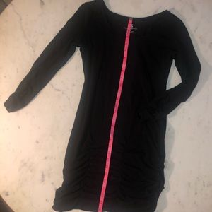 French Connection mini long sleeve black dress S